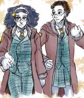 Violet & Rowan dressed as Hildegard & Holger