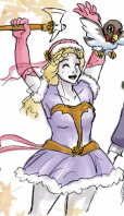 Ivy dressed as Pretty Combat Mountaineer Geirskögul