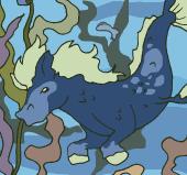 A ponyfish in an aquarium