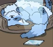 Tiernan looking adorable in her bed